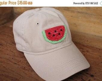 Sale Baseball Cap - Khaki/Red Watermelon - Ready to Ship