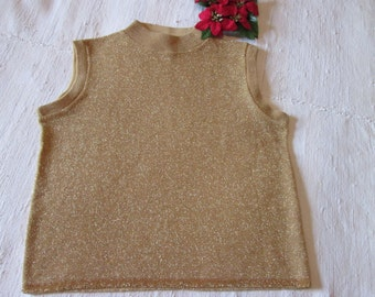 Gold glitter vintage sweater / Vintage Sweater glittering gold