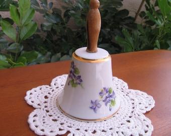 Vintage Enesco Violets Bell