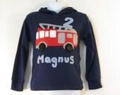 Fire Engine Hoodie - Fire truck t-shirt - Kids Clothing - Vehicles