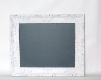 FRAME SALE Ornate White chalkboard frame CUSTOM Size  decor baroque