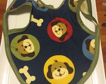 Puppy Handmade Bib, baby bib, handmade