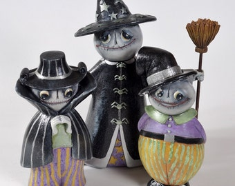 Painted Resin Figurines, Halloween Ghost Decorations Holiday Home Decor, Part of Sales Proceeds Supports Animal Rescue Charity