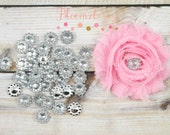 11 mm Acrylic Rhinestones - Flowers Shape -Clear Color -  Embellishment Rhinestones - Clear Acrylic -Rhinestones Hair Accessories Supplies