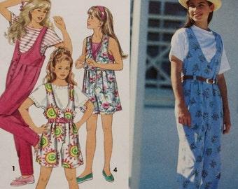 Simplicity 8504/ Girls Jumpsuit Sewing Pattern / UNCUT