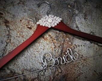 FREE Shoe Decals - Rhinestone Wedding Dress Hanger, Gatsby, Vintage, Wedding, Bride Hanger, High Quality, Wedding Gift