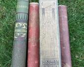Antique Books, Set of 4