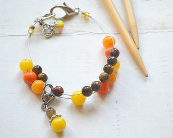 Divine / Knitting Row Counter Bracelet / Abacus Bracelet / Knitting Bracelet