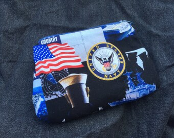 Navy Wristlet/Coin Purse