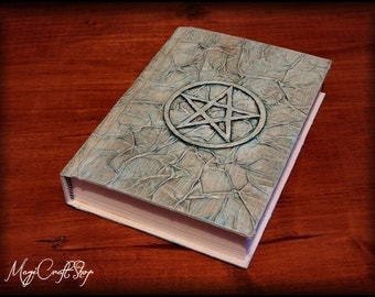 Diary  Book of Shadows 3d series VARIOUS MODELS with triquetra - medium size 8,67x5,91 inch (22x16 cm)