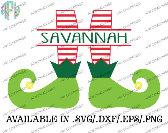 Elf Shoes Svg File