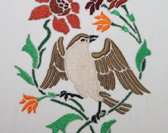 Bird 1 Digitized Machine Embroidery Design
