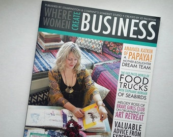 Where Women Create Business Magazine, Summer 2013, Volume 1 Issue 2, small crafting business magazine, Stampington & Co. DESTASH, Sale