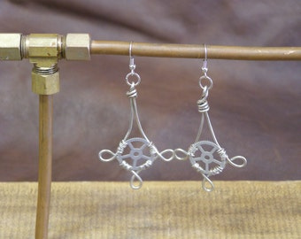 Nickel Pendant Wire-Wrapped Gearrings