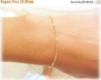 VALENTINES DAY - Thin Gold bracelet - Delicate Gold Bracelet, everyday jewelry, simplistic bracelet, dainty gold bracelet, gold bangle