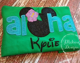 Aloha Custom embroidered Disney Inspired Vacation Shirts for the Family! 730