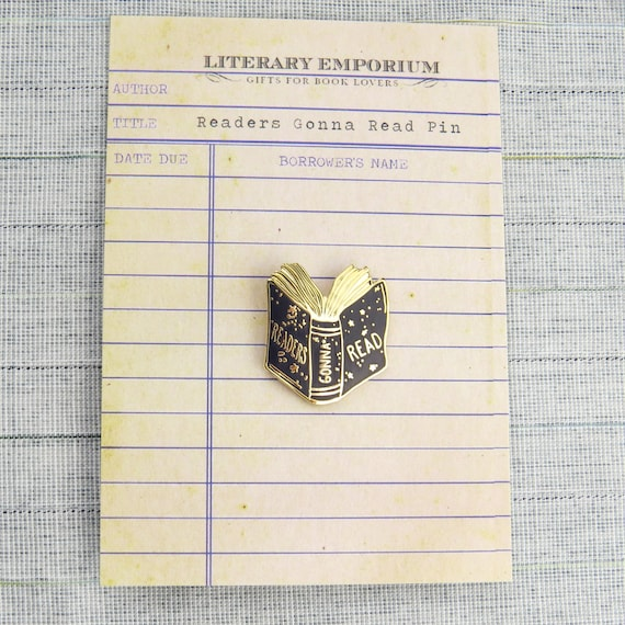 Readers Gonna Read lapel pin