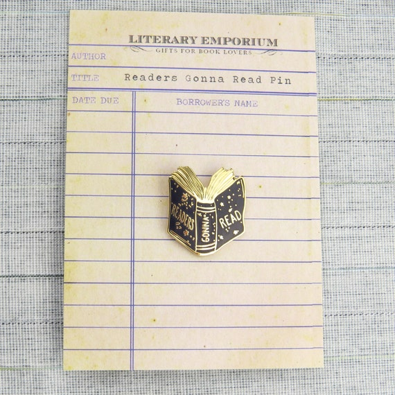 Readers Gonna Read lapel pin