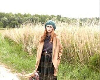 AUTUMN 2016: warm long skirt, handmade from natural wool