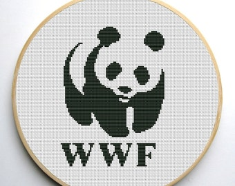 WWF Panda cross stitch pattern PDF Instant Download
