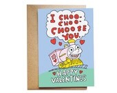 The Simpsons I Choo-choo-choose You Valentine's Day Card