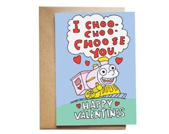 The Simpsons I Choo-choo-choose You Valentine's Day Card