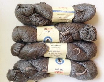 50% Off Mulberry Silk Worsted Yarn 100 g 225 Yards Himalayan Grey