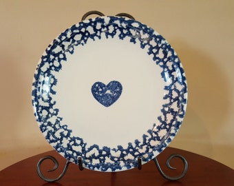 Folk Craft Hearts Plate by Teinshan 1980's