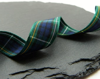 Campbell Scottish Tartan Ribbon 16mm Wide Berisfords Per Metre