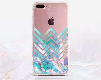 iPhone 8 Case iPhone X Case iPhone 7 Case Abalone Chevron Clear GRIP Case iPhone 7 Plus Clear Case iPhone SE Case Samsung S8 Plus Case U161