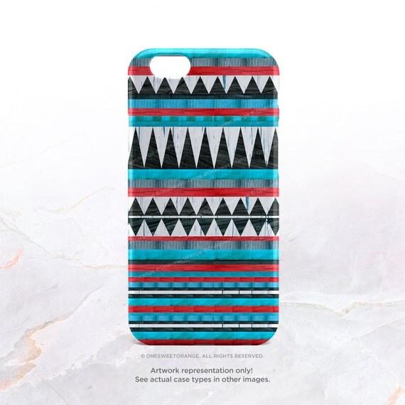 iPhone 7 Case Native Teal Geometric iPhone 7 Plus iPhone 6s Case iPhone SE Case iPhone 6 Case iPhone 5S Case Galaxy S7 Galaxy S6 Case I38