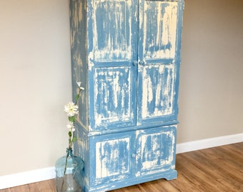 Rustic Armoire ~ Kids Wardrobe ~ Craft Cabinet ~ Bedroom Closet ~ Joanna Gaines Style ~ Chic Furniture ~ Farmhouse Style
