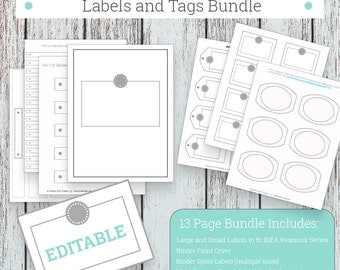 Labels, Printable Blank Labels for Organizing, Printable Tags, Office Organization, Jumbo Labels and Tags Bundle, Grey