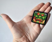 Hand embroidered Patch - Warcraft 2: Tides of Darkness - Magic Bloodlust - 8 bit Old computer game - 90s