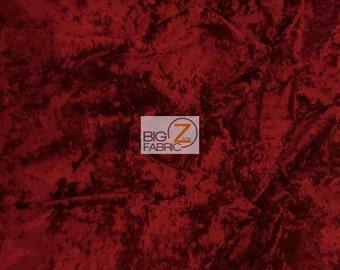 Red Crushed Velvet Etsy