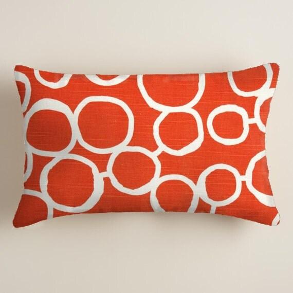 PILLOWS orange Lumbar Decorative Throw Pillow Cover