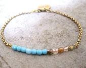 Czech Glass Bracelet-Charm Bracelet-Personalized Bracelet-Gift Bracelet-Delicate Jewelry-Dainty Bracelet-Minimalist Jewelry-Free Shipping