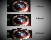 Framed Captain America Shield Marvel Avengers Age of ultron Super Hero Wall Canvas Art - Ready to Hang