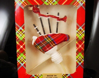 Scottish barware spout liquor Bagpipe pourer in original scotland box Wedding party gift novelty Bartender gift