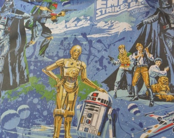 Vintage '79 Star Wars Empire Strikes Back twin sheet set (no flat sheet, 2 pillowcases)