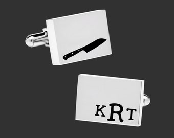 Chef Gift | Gift for Chef | Culinary Cuff Links | Personalized Cuff Links | Chef Gifts | Gifts for Men | Korena Loves