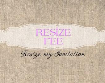 Resize for Invitation