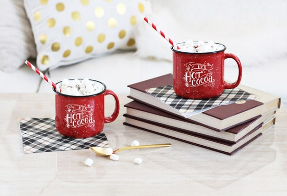 His & Hers Hot Cocoa Mug Set