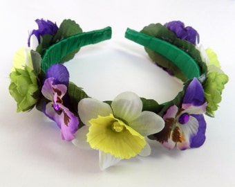 Girl headband flower halo, flower Crown Headband for girl mix Floral Crown,flower crown,wedding hair flower crowns wedding,ready to ship