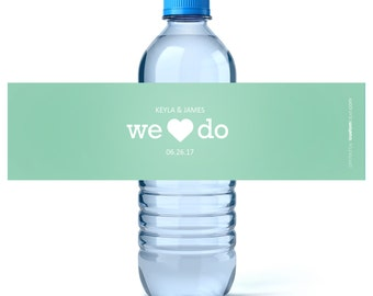 Wedding Water Labels - Wedding Favors - Custom Water Bottle Labels Wedding- Waterproof Labels - Wedding Water Bottles