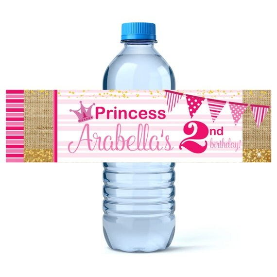birthday water bottle labels