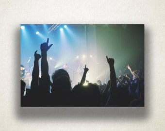 Concert Crowd Canvas Art, Concert Wall Art, People Canvas Print, Close Up Wall Art, Photograph, Canvas Print, Home Art, Wall Art Canvas