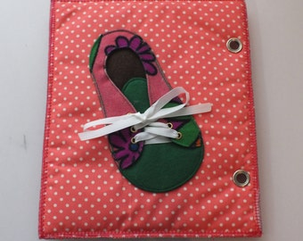 Quet Book-Activity Book-Busy Book-Felt book-Shoe-Tie a Shoelace Page