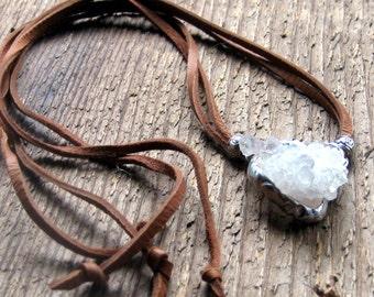 Angel Aura Quartz Necklace Bohemian Jewelry