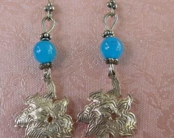 Blue Jade - Sterling Silver – Earrings - Gemstones